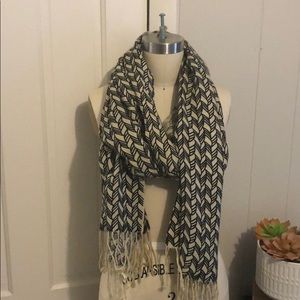 Urban outfitters black and cream scarf